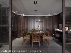 装修设计 装修完成 新古典 美式风格 书房图片来自幸福空间在403平,藏美 优雅如你的分享