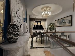 复式 欧式 餐厅图片来自知贤整体家装在保利星海屿的分享