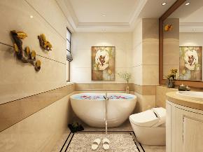 欧式 三居 卫生间图片来自知贤整体家装在中环国际的分享