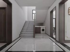 别墅 新中式 楼梯图片来自知贤整体家装在自建别墅的分享