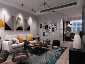 二居 北欧 客厅图片来自知贤整体家装在保利天鹅语的分享