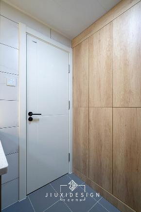 三居 收纳 旧房改造 简约 日式 久栖设计 原木 卫生间图片来自久栖设计在他们的家居然有一座图书馆的分享