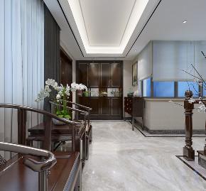 新中式 别墅 玄关图片来自知贤整体家装在和黄泷湾的分享