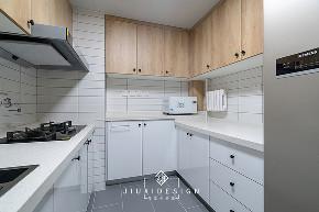 三居 收纳 旧房改造 简约 日式 久栖设计 原木 厨房图片来自久栖设计在他们的家居然有一座图书馆的分享