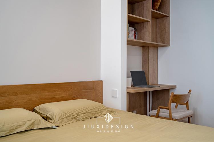 三居 收纳 旧房改造 简约 日式 久栖设计 原木 卧室图片来自久栖设计在他们的家居然有一座图书馆的分享