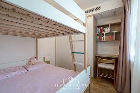 三居 收纳 旧房改造 简约 日式 久栖设计 原木 儿童房图片来自久栖设计在他们的家居然有一座图书馆的分享