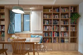三居 收纳 旧房改造 简约 日式 久栖设计 原木 餐厅图片来自久栖设计在他们的家居然有一座图书馆的分享
