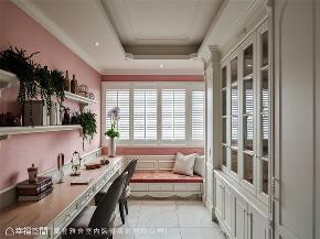 装修设计 装修完成 新古典 法式风格 书房图片来自幸福空间在264平,华美缤纷的艺术殿堂的分享