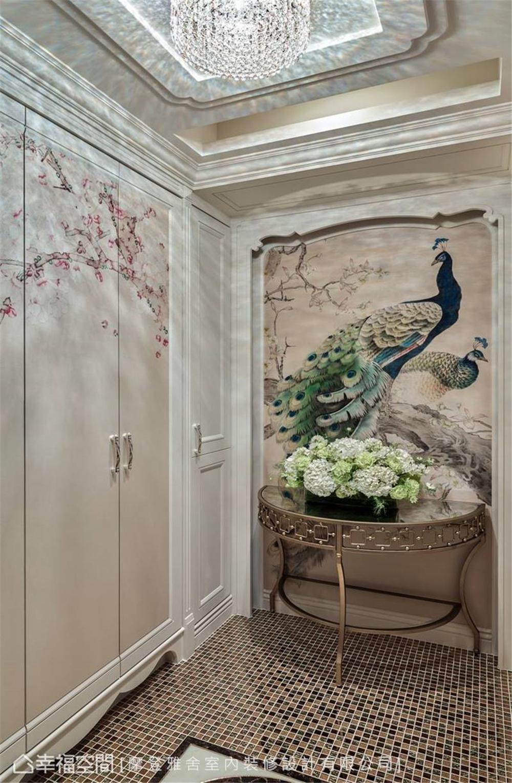 装修设计 装修完成 新古典 法式风格 玄关图片来自幸福空间在264平,华美缤纷的艺术殿堂的分享