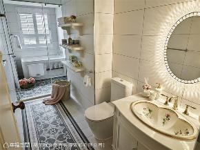 装修设计 装修完成 新古典 法式风格 卫生间图片来自幸福空间在264平,华美缤纷的艺术殿堂的分享