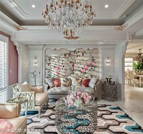 装修设计 装修完成 新古典 法式风格 客厅图片来自幸福空间在264平,华美缤纷的艺术殿堂的分享