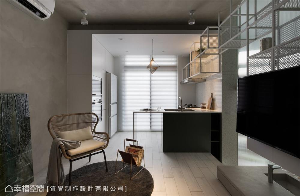 装修设计 装修完成 现代风格 客厅图片来自幸福空间在43平,机能与美学兼具的温馨宅的分享