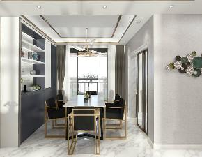 现代 时尚 餐厅图片来自在白色与金色的典雅 106平现代大气的分享