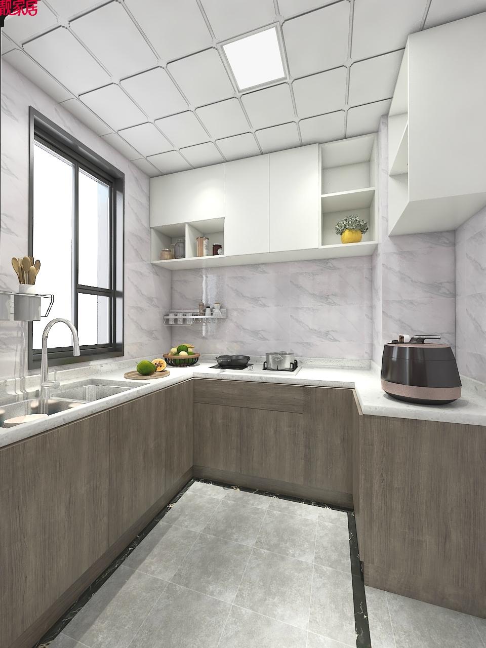 现代 时尚 厨房图片来自乐粉_20170119180319792在白色与金色的典雅 106平现代大气的分享