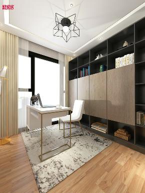 现代 时尚 书房图片来自在白色与金色的典雅 106平现代大气的分享