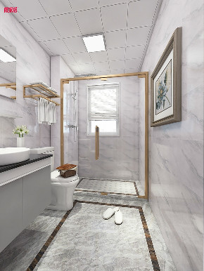 现代 时尚 卫生间图片来自在白色与金色的典雅 106平现代大气的分享