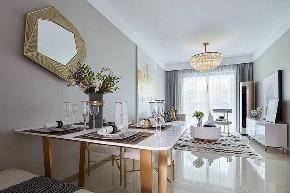 混搭 典雅 餐厅图片来自在典雅娴静137平的舒适自在的分享