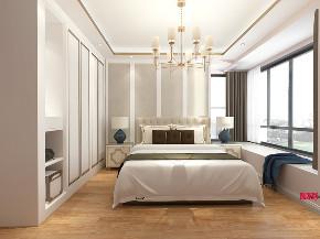 现代 时尚 卧室图片来自在白色与金色的典雅 106平现代大气的分享