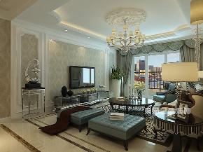 欧式 三居 客厅图片来自在145平米欧式古典三室两厅的分享