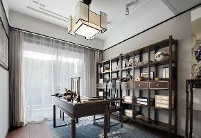 中式 书房图片来自在99平新中式沉稳中带着时尚的分享
