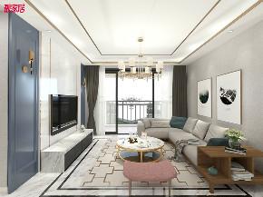 现代 时尚 客厅图片来自在白色与金色的典雅 106平现代大气的分享