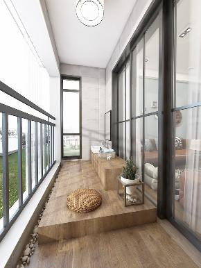 北欧 原木 阳台图片来自在8万北欧风情 让在家心旷神怡的分享