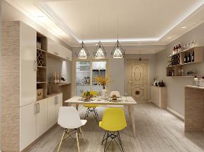 欧式 小资 厨房图片来自在原木北欧风 129平四居别有洞天的分享