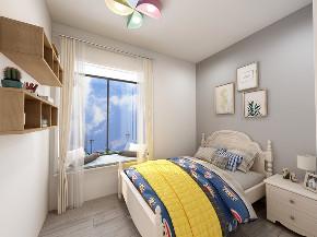 欧式 小资 卧室图片来自在原木北欧风 129平四居别有洞天的分享