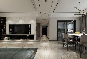 现代 客厅图片来自在160m²的现代生活家居体验的分享