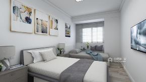 北欧 卧室图片来自在让人一看就喜欢的四居简约北欧风的分享