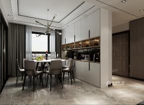 现代 餐厅图片来自在160m²的现代生活家居体验的分享