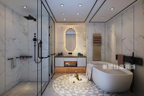简约 三居 卫生间图片来自在三里屯SOHO-175平米-现代轻奢的分享