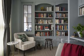 三居 张馨 美式 书房 书房图片来自在翱翔 水畔森林的分享