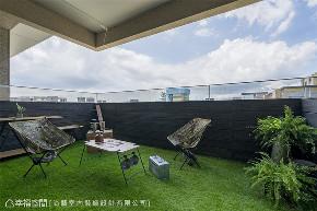 装修设计 装修完成 现代风格 休闲多元 阳台图片来自幸福空间在192平,自然况味现代宅的分享