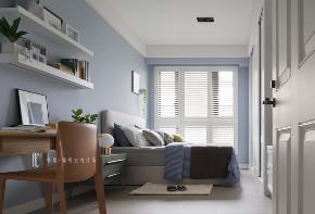 三居 张馨 美式 卧房 卧室图片来自在翱翔 水畔森林的分享