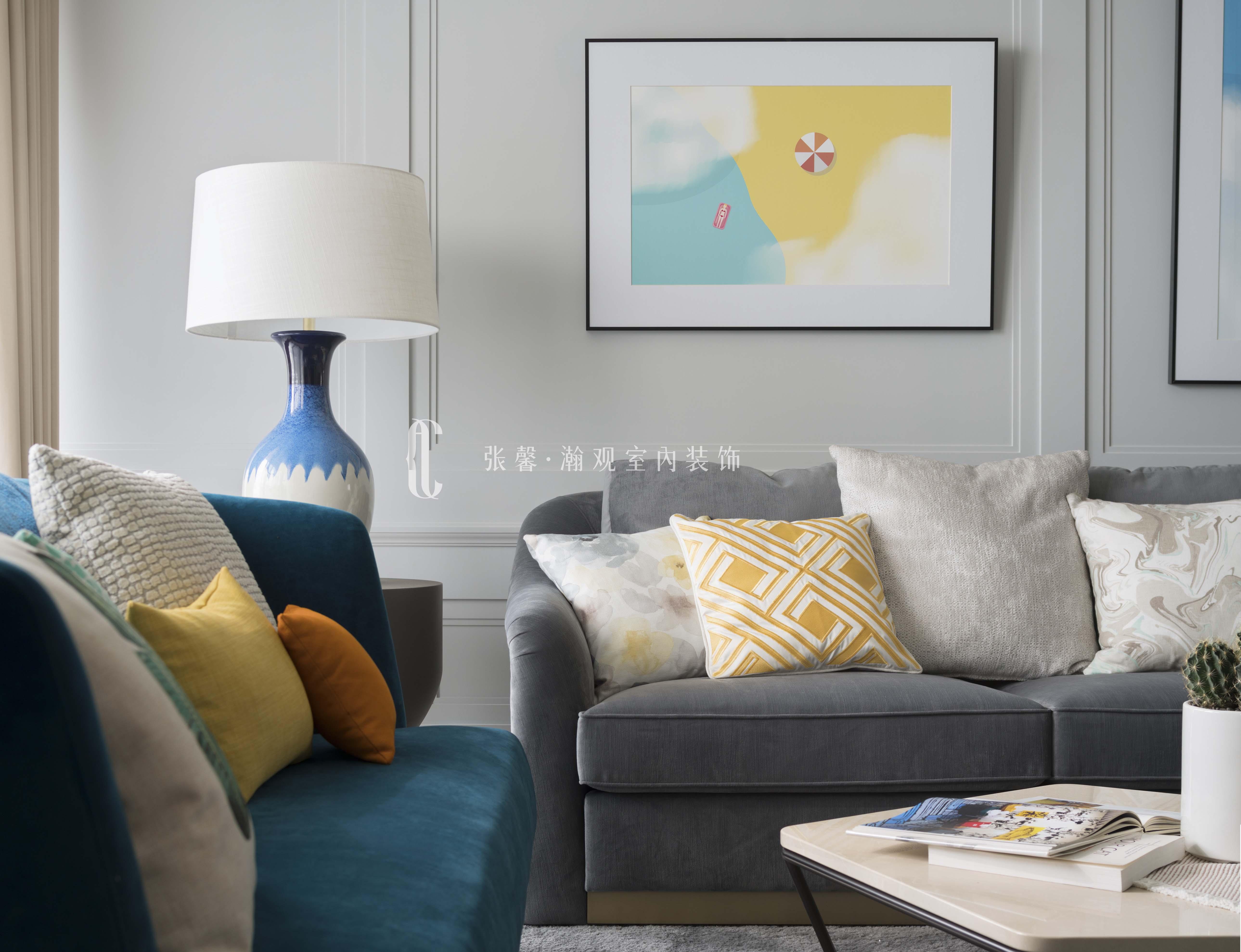 三居 张馨 美式 客厅 客厅图片来自张馨_瀚观室内装饰在翱翔 水畔森林的分享