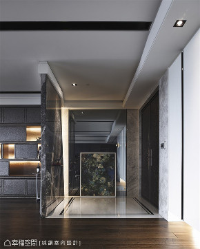 玄关图片来自幸福空间在360平,材质×手法构筑的音乐飨宴的分享