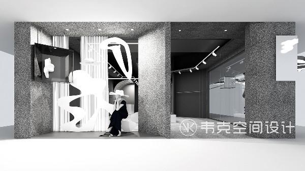 设计师拆除入口附近的所有墙面改成服饰展陈架,打破常规摆放,更加灵活,顾客进门就可以看见服饰,人在这个空间里的动线也更加舒服。