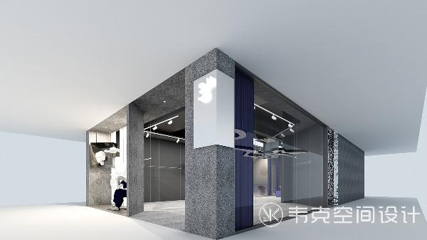 极简的设计和粗糙的磨砂感呈现出超现代的感觉,墙面的水磨石为空间增添了纹理,避免单调的感觉。特别的是入口处被设计师用作橱窗展台,很有趣的尝试。