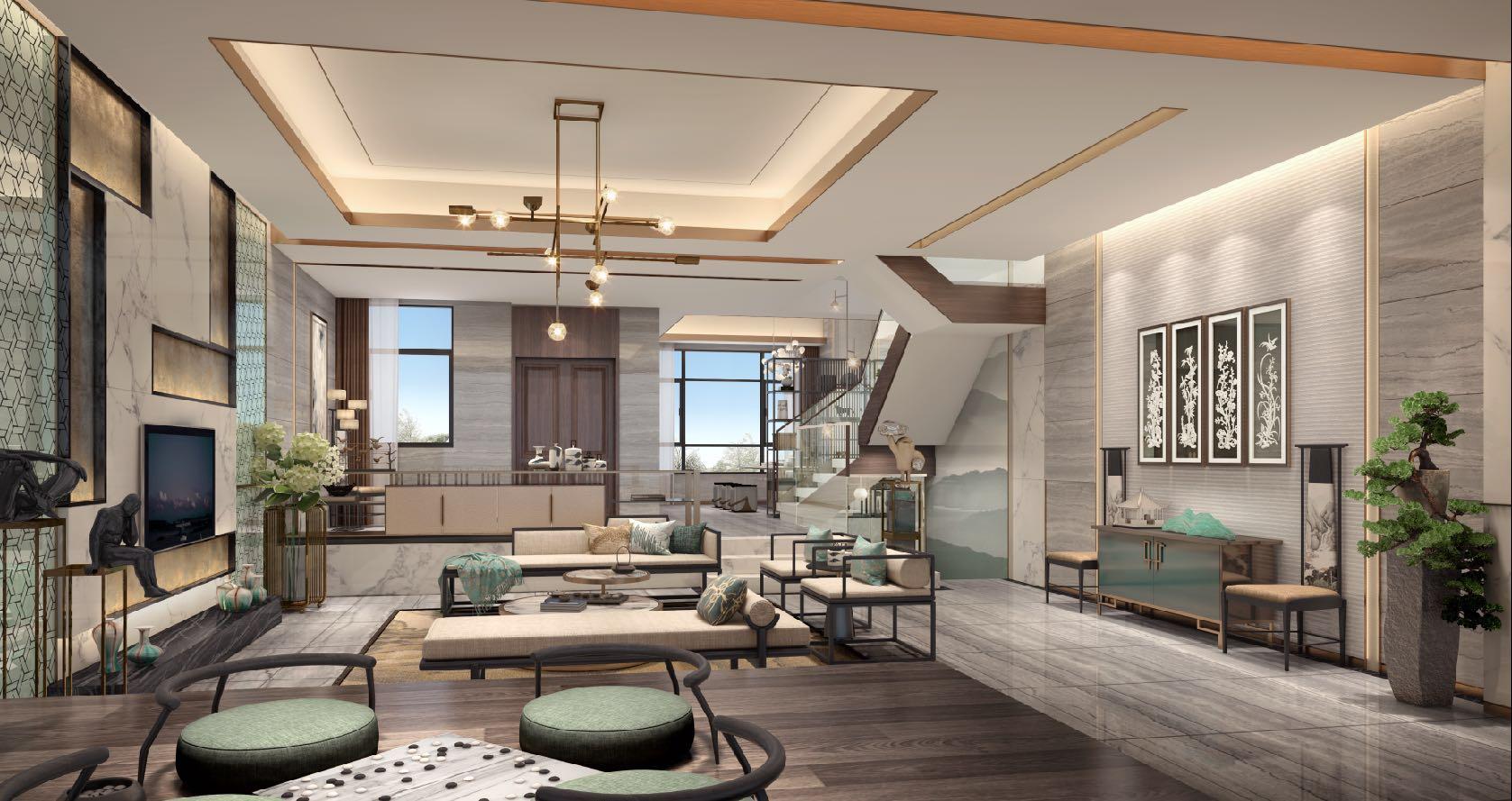 欧式 白领 小资 别墅 客厅图片来自文华东方工程设计在文华权设计--惠州白鹭湖别墅的分享