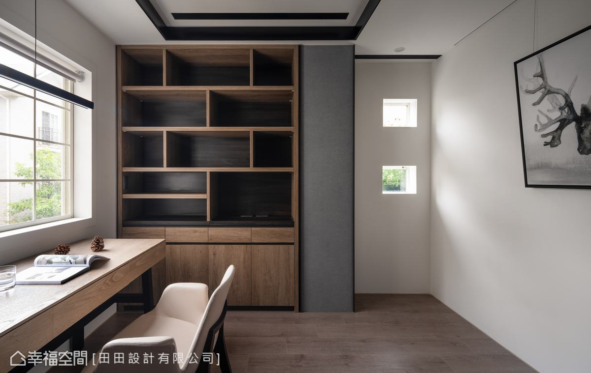装修设计 装修完成 现代风格 人文风格 书房图片来自幸福空间在198平,沉稳优雅的饭店宅的分享