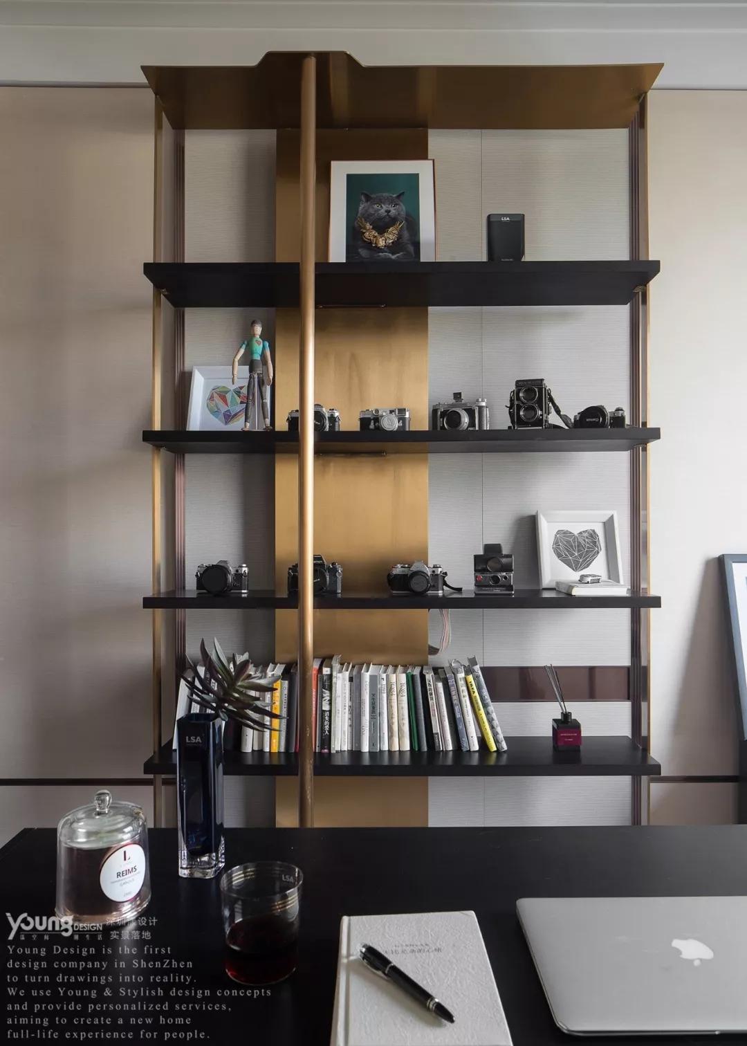 旧房改造 小资 漾设计 轻奢 精装房 书房图片来自漾设计在漾设计 | 纸醉金迷的分享