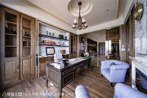 装修设计 装修完成 现代风格 英式风格 新古典 书房图片来自幸福空间在430平,豪宅推手 打造企业主会所的分享