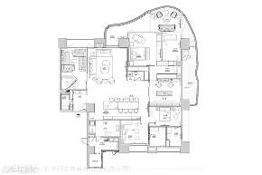 装修设计 装修完成 现代风格 英式风格 新古典 户型图图片来自幸福空间在430平,豪宅推手 打造企业主会所的分享