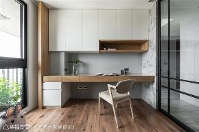 装修设计 装修完成 现代风格 新成屋 标准格局 书房图片来自幸福空间在126平,清新白×木作 生活好感度的分享