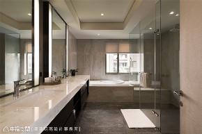装修设计 装修完成 现代风格 人文风格 卫生间图片来自幸福空间在192平,静享都心生活 人文风尚宅的分享
