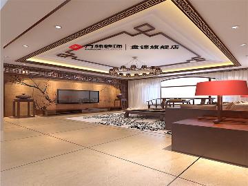 盘锦林香墅200平跃层新中式风格