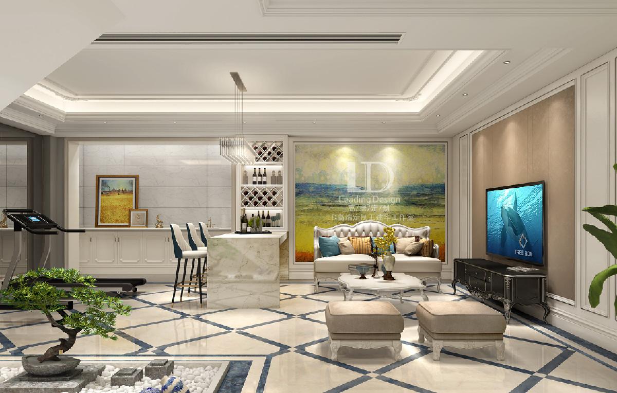 重庆龙湖九里晴川联排别墅客厅装修设计效果图,兄弟装饰设计师王建华