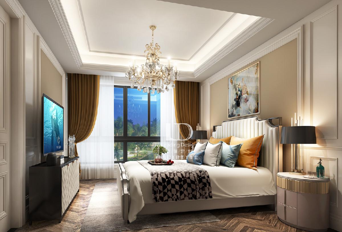龙湖九里晴川联排别墅卧室装修设计效果图,兄弟装饰设计师王建华