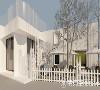 门口有一处小院子,设计师将其用白色栏杆围起来,打造成了都市繁华当中的一片宁静净土。不仅员工喜欢在难得的闲暇时间出来坐一坐,也给慕名而来的女孩们带来惊喜:哇好漂亮的小院子!